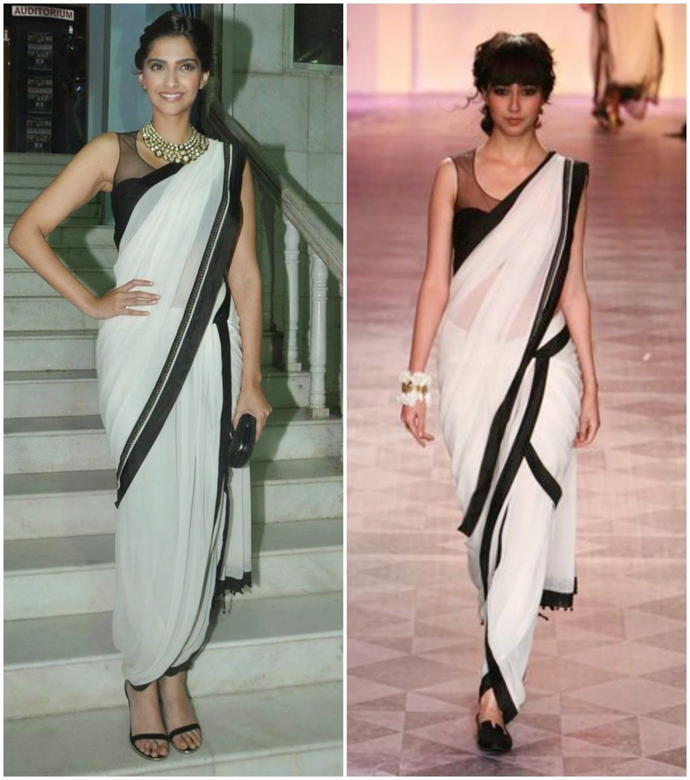 Learn how to wear saree in dhoti style, pant style saree, tunic ... for Drapes In Garments  29jwn