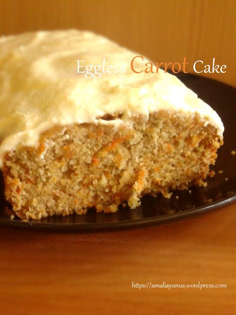 Eggless Carrot Cake Cake Wortel Tanpa Telur Makanan Kue Makanan Dan Minuman