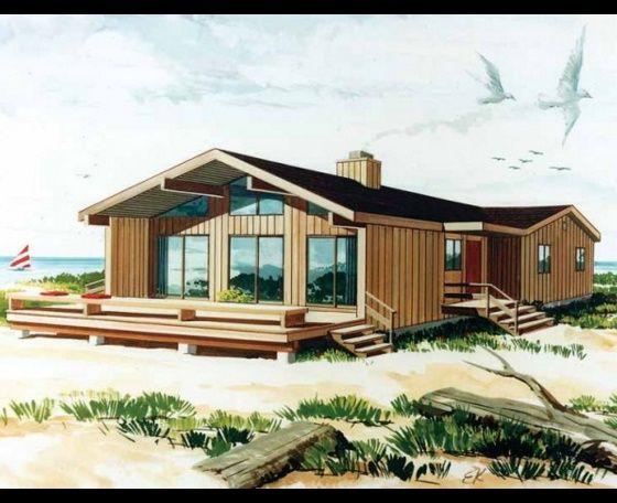 Fachada de casa de madera elejidos planos de casas for Disenos de casas de playa pequenas