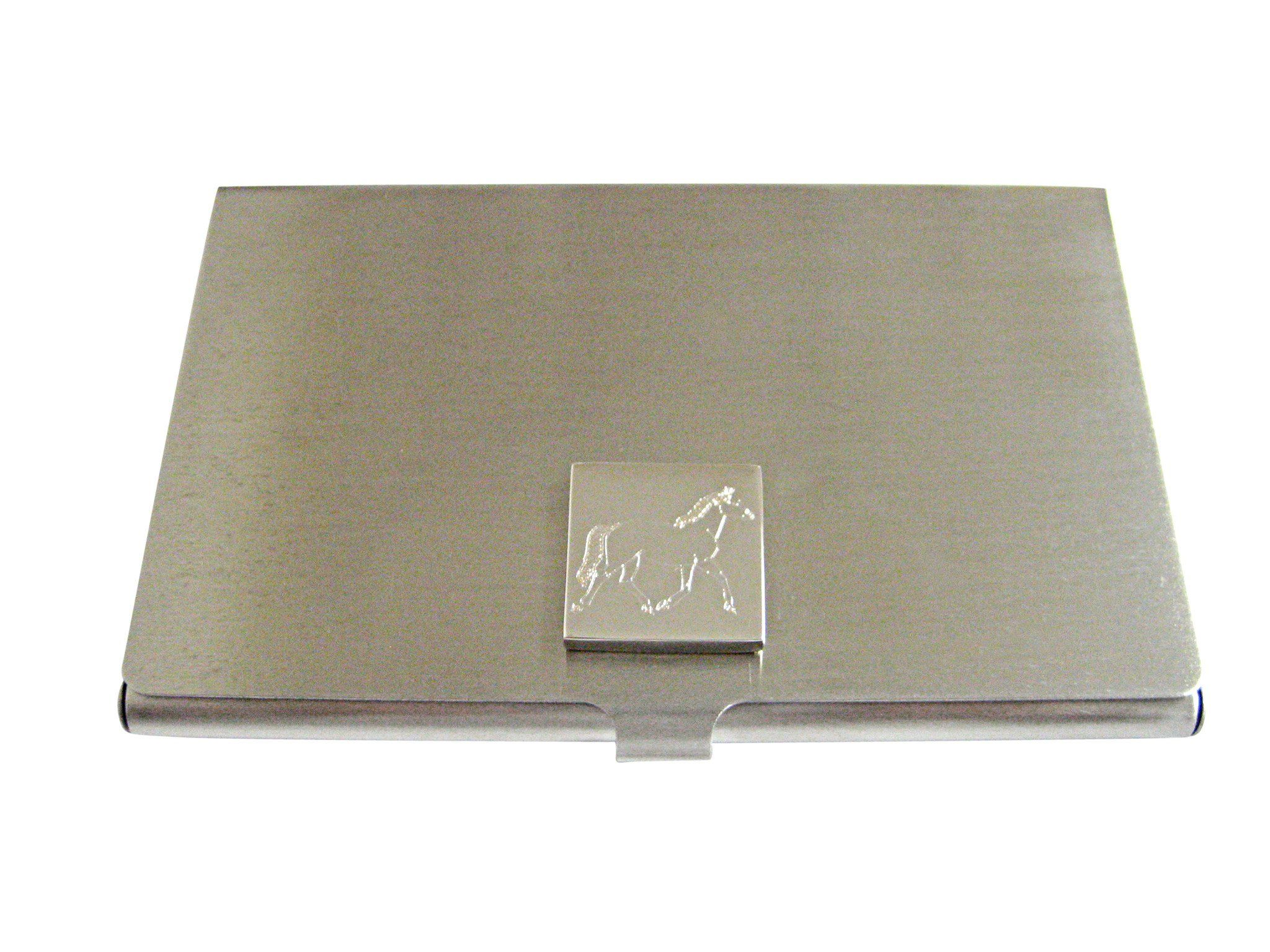Silver toned etched full horse business card holder business card silver toned etched full horse business card holder colourmoves Choice Image