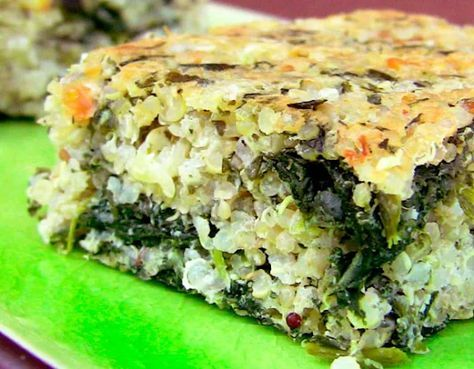Pastel de quinoa y espinacas