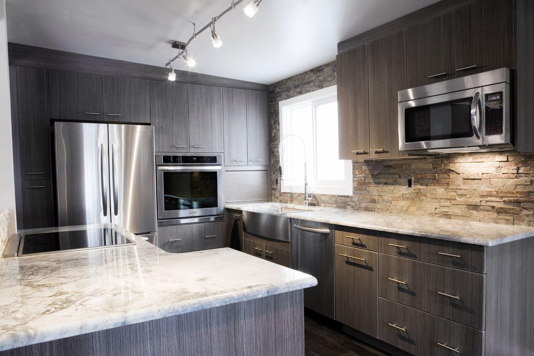 Best Kitchen Gallery: 18 Modern Kitchen Ideas For 2018 300 Photos Wood Grain Dark of Grey Wood Kitchen Cabinets on cal-ite.com