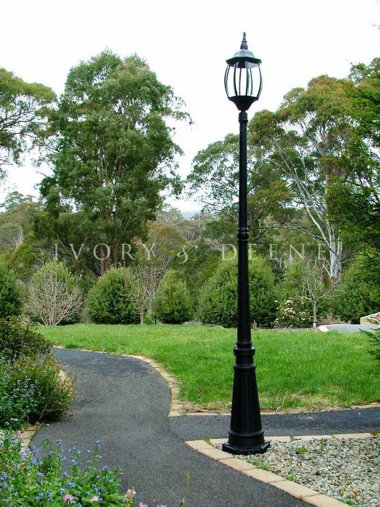 Garden Lamp Post Victorian Style Black