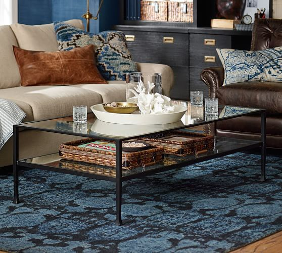 Tanner Rectangular Coffee Table Bronze finish