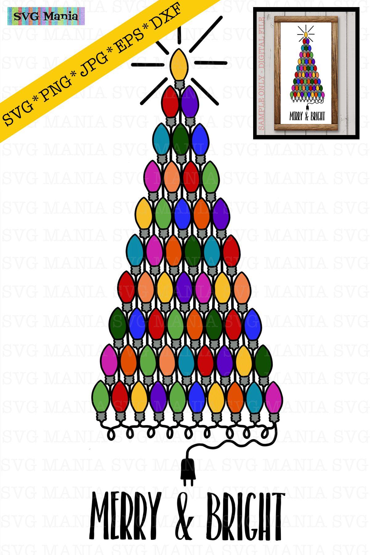 Christmas Tree Of Christmas Lights Svg File Christmas Svg 404783 Svgs Design Bundles Christmas Svg Etsy Shop Etsy Handmade
