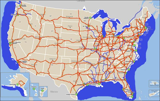 Map Of Us Highways Map Maps Of The World - Highway map of usa