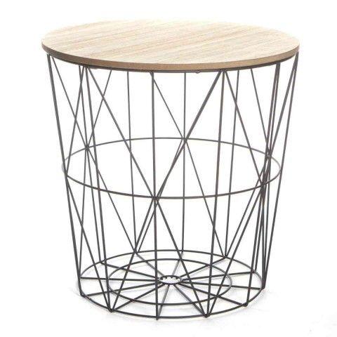 """table d'appoint design """"kumi"""" 41cm noir"""