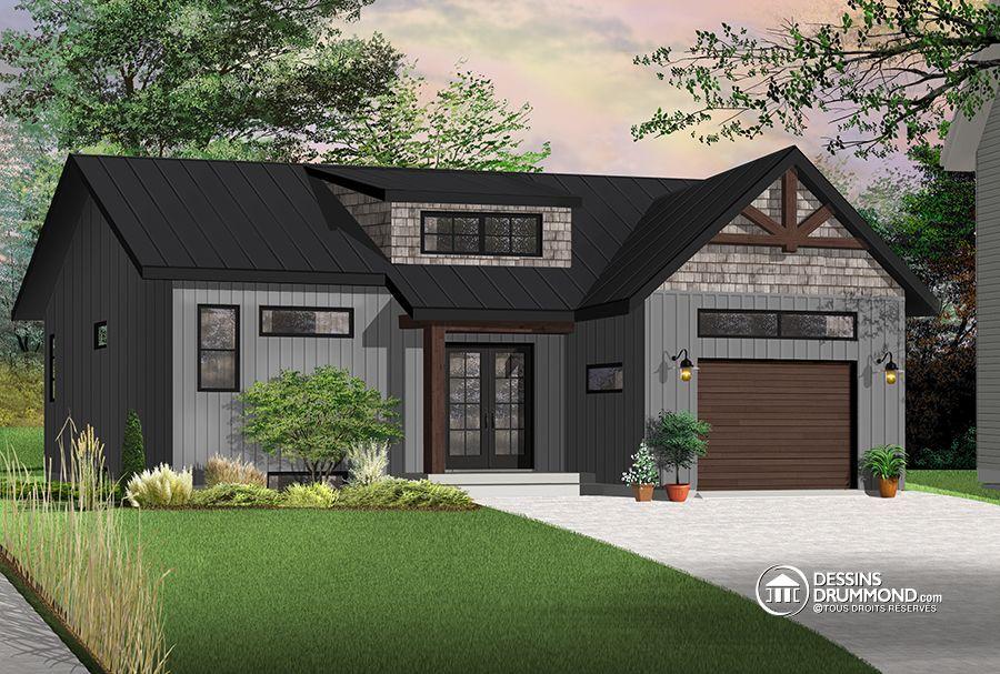 Détail du plan de Maison unifamiliale W3288 House plans i like