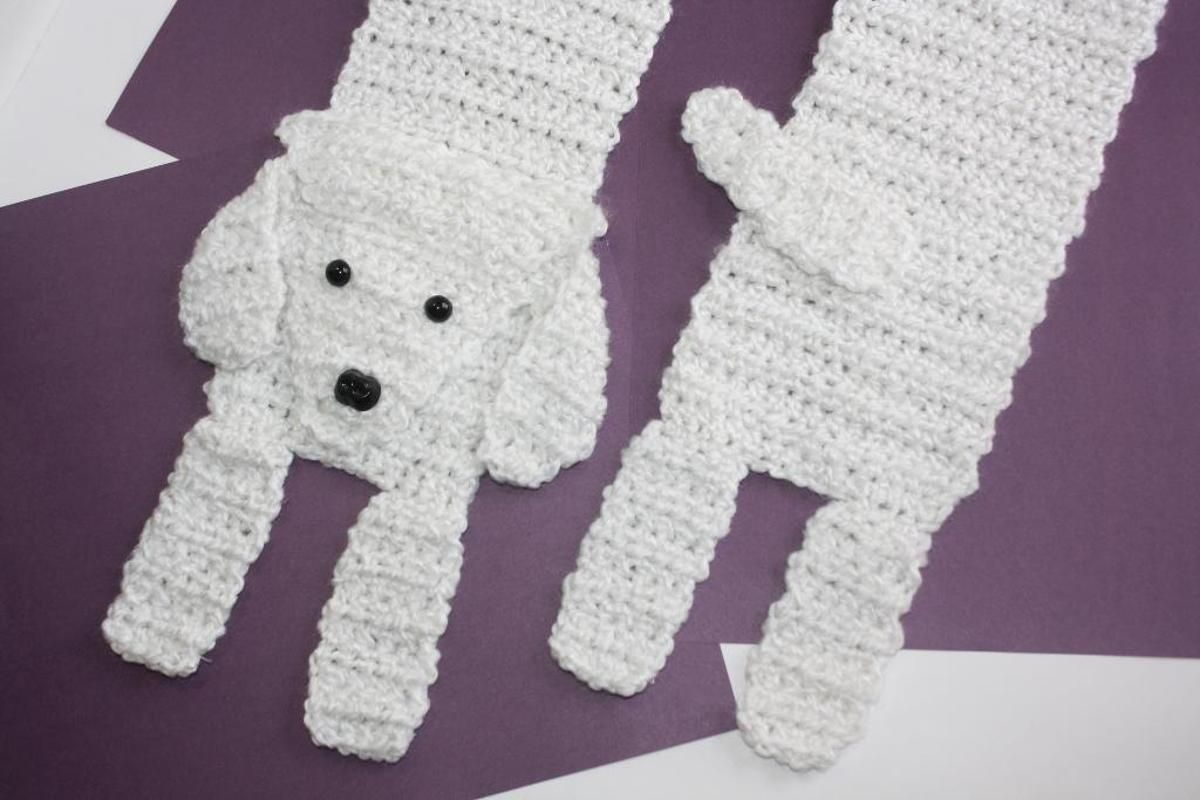 Poodle Scarf | I crochet | Pinterest | Croché, Ganchillo and Crochet ...
