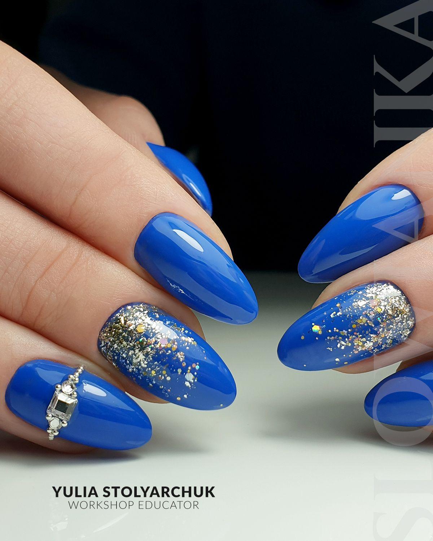 Paznokcie Niebieskie Manicure Granatowy W 2020 Paznokcie