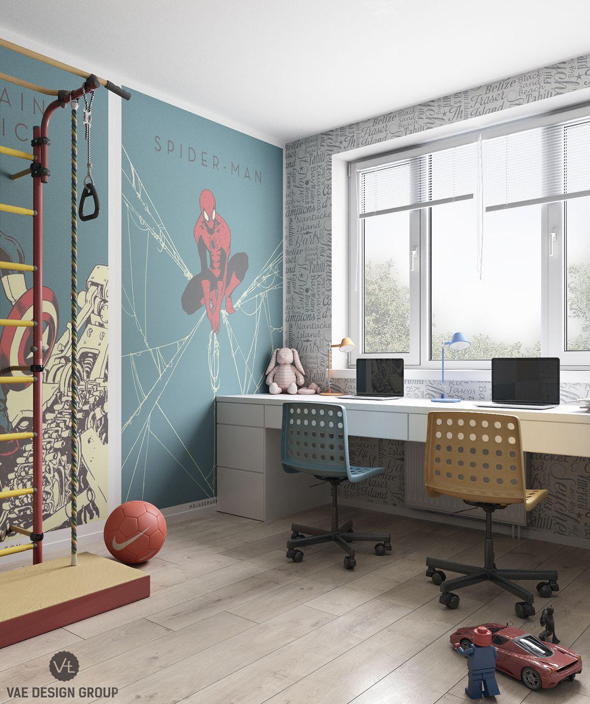 Superhelden Zimmer | Kids rooms, Behance and Room