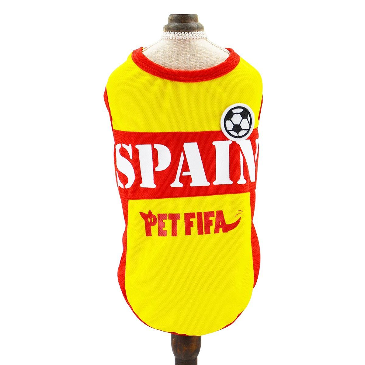 3aac89e0a Besmall Dog Tshirt Costume Sport Jersey Pet National Flag Football Soccer  World Cup FIFA Spain XS    You could obtain even more information by  clicking on ...