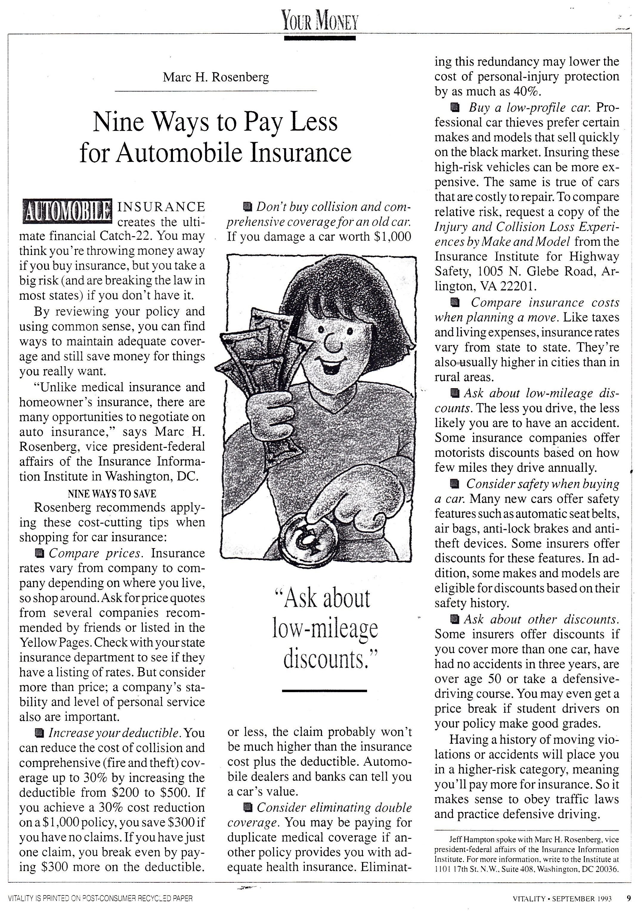 Nine Ways To Pay Less For Automobile Insurance With Images