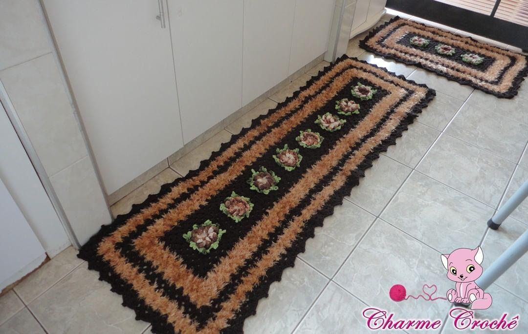 Set tappeto Sofia ... Realizzato in normali corde e stringhe ...