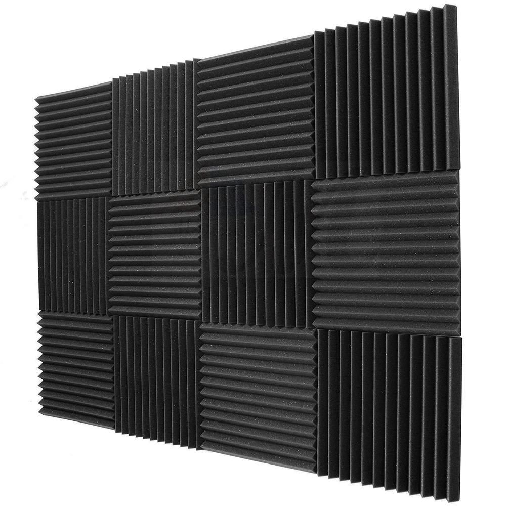 Soundproofing Acoustic Studio Wedge Foam Tiles Wall Panels Black Blue Red Purple
