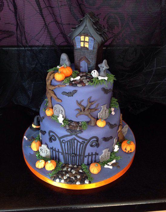 Enjoyable Haunted House Cake By Andriascakes Cakesdecor Com Cake Funny Birthday Cards Online Inifofree Goldxyz