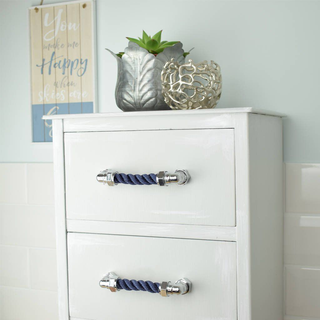 Chrome Rope Pull Nautical Themed Nautical Drawer Pulls Nautical Drawers Unique Home Accessories