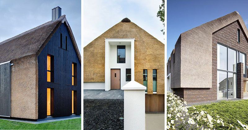 12 Examples Of Modern Houses And Buildings That Have A Thatched Roof Small House Design Traditional Building Modern Architecture