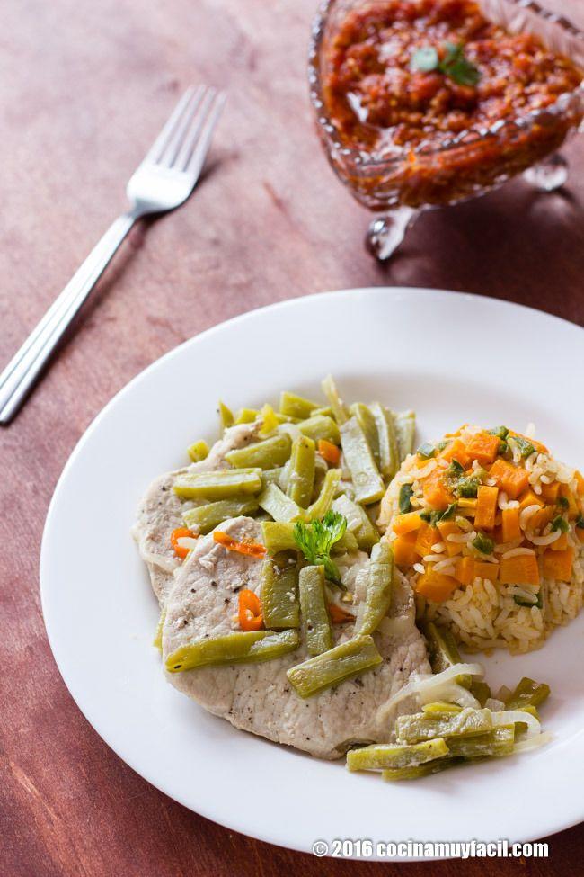 Lomo de cerdo con nopales Receta  Receta  Cocina Muy