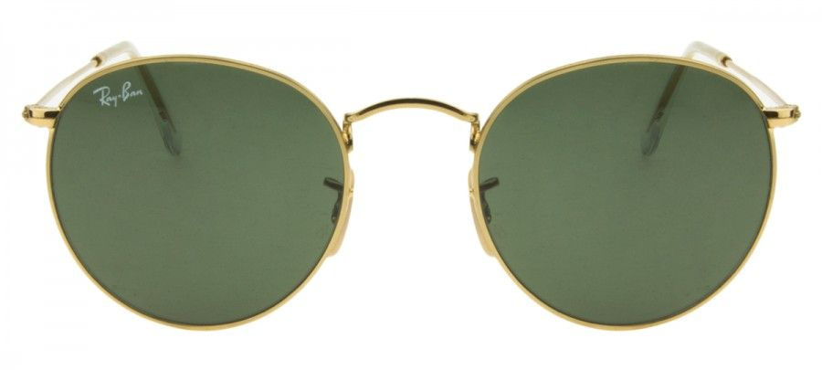 f16450ca9071a ... Ray Ban Round Metal RB3447 - G15 - Dourado - 00150 picked up 2bc4f  e5620 ...