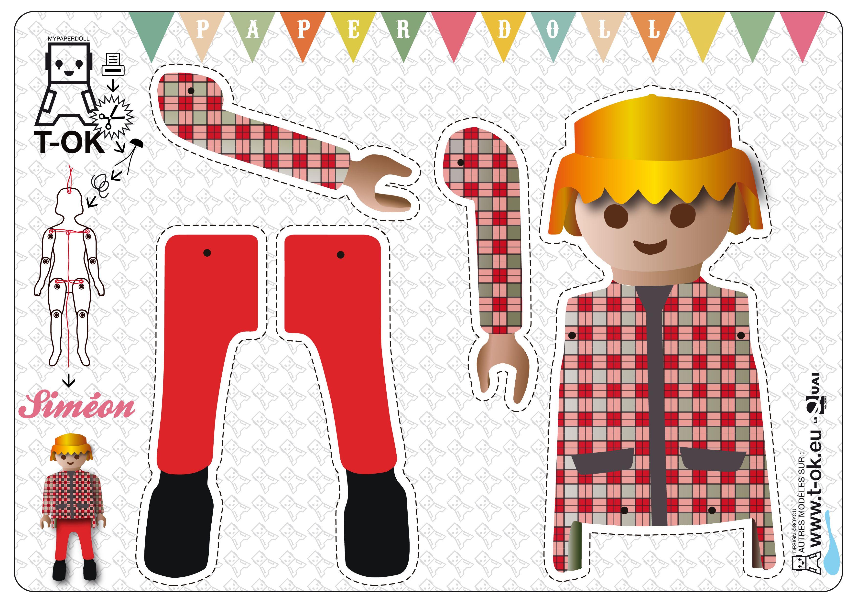 Pantin playmobil imprimer diy imprimer pinterest - Decoupage collage a imprimer ...