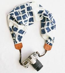 Tie-Dye Indigo Scarf Camera Strap