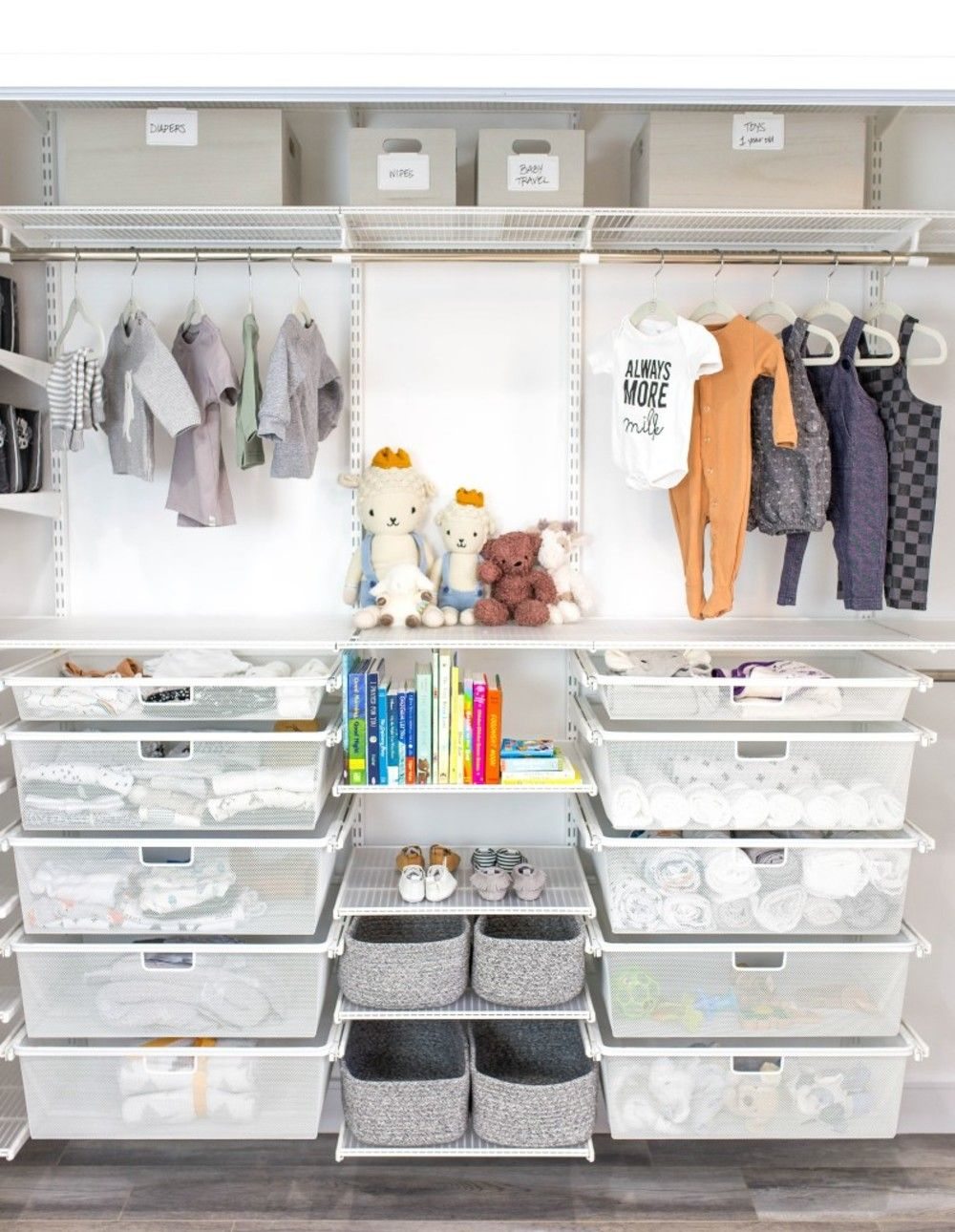 27 Baby Nursery Organization Ideas  Baby nursery closet, Nursery
