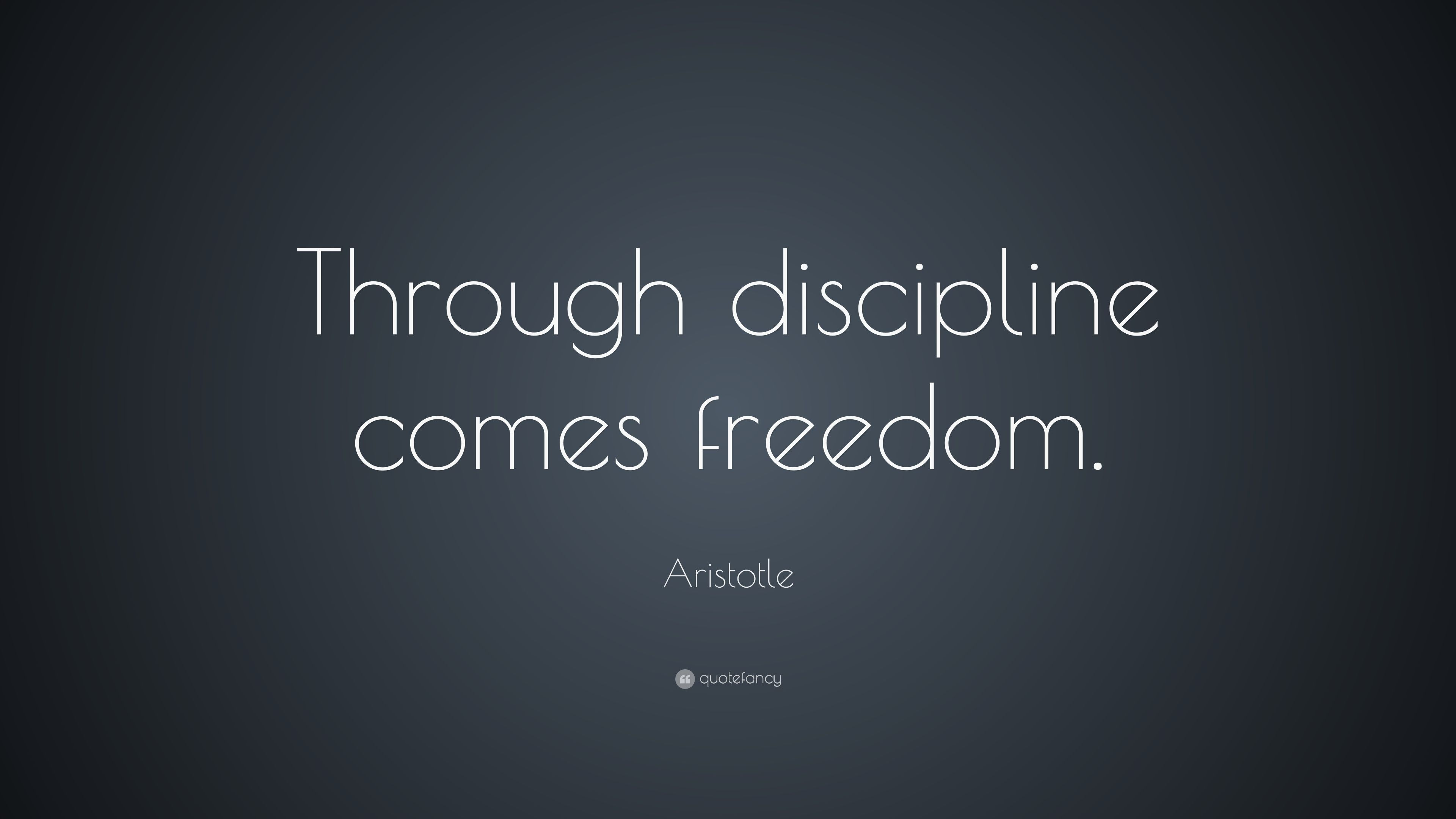 25 Best Aristotle Quotes On Pinterest: Image Result For Discipline Equals Freedom