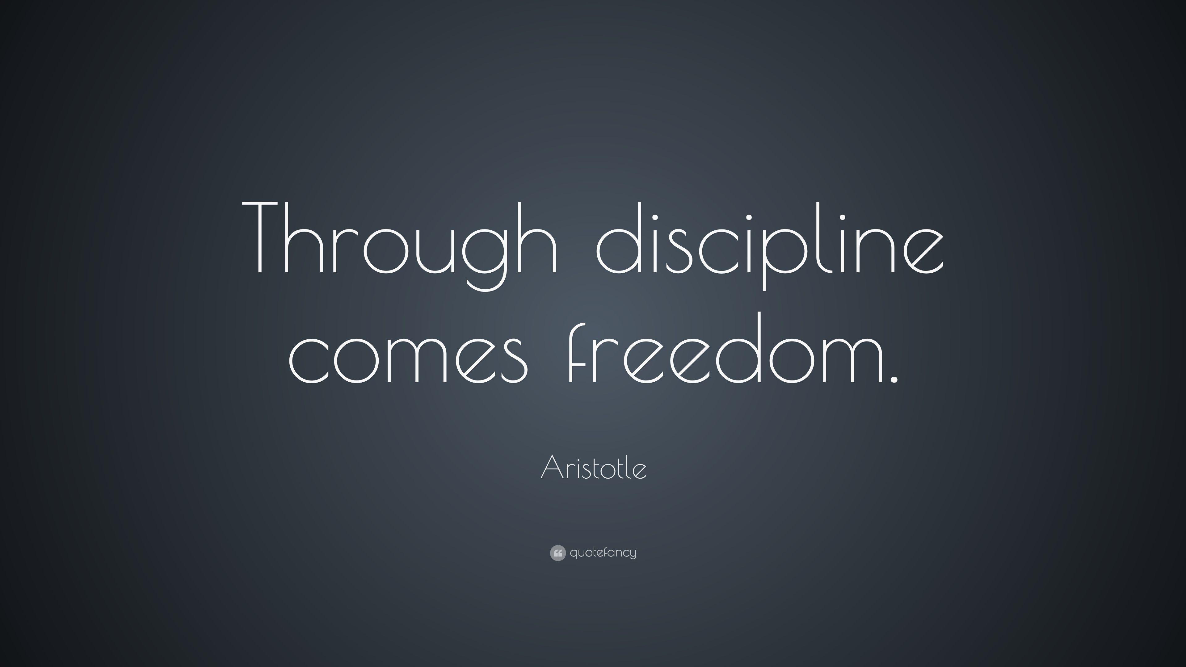 38 Best Aristotle Images On Pinterest: Image Result For Discipline Equals Freedom