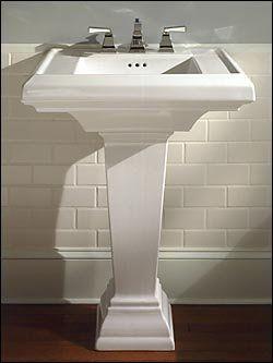 Square Pedestal Sink Not Curvy American Standard Sink