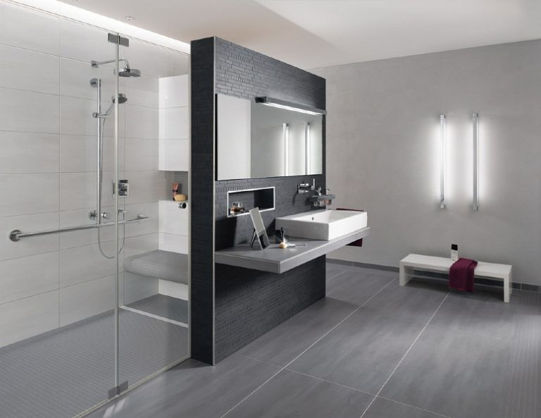 Fantastisch Badezimmer Anthrazit Wei Liebenswert Design Badezimmer Fliesen Wei Und  Anthrazit