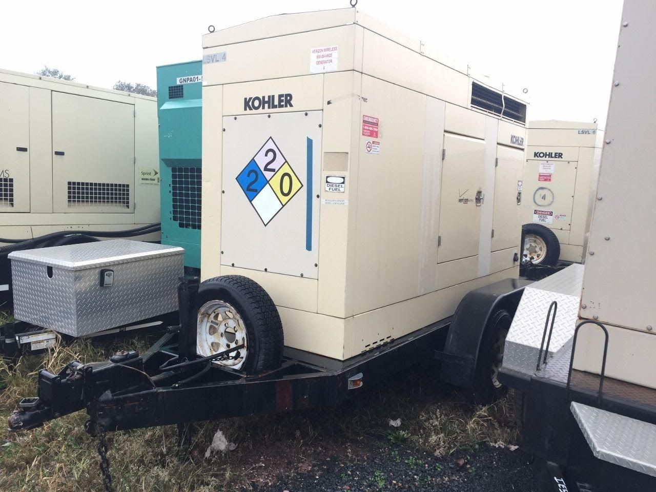 Unit 51647 Manufacturer Kohler Fuel Type Diesel Rating 55 Kw Hours 5740 Voltage 120 208 Amps Portable Diesel Generator Diesel Generators Diesel