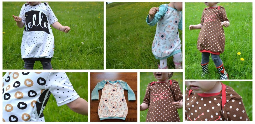 Ballonkleid für Kinder nähen - Freebook Wirbelkind Gr