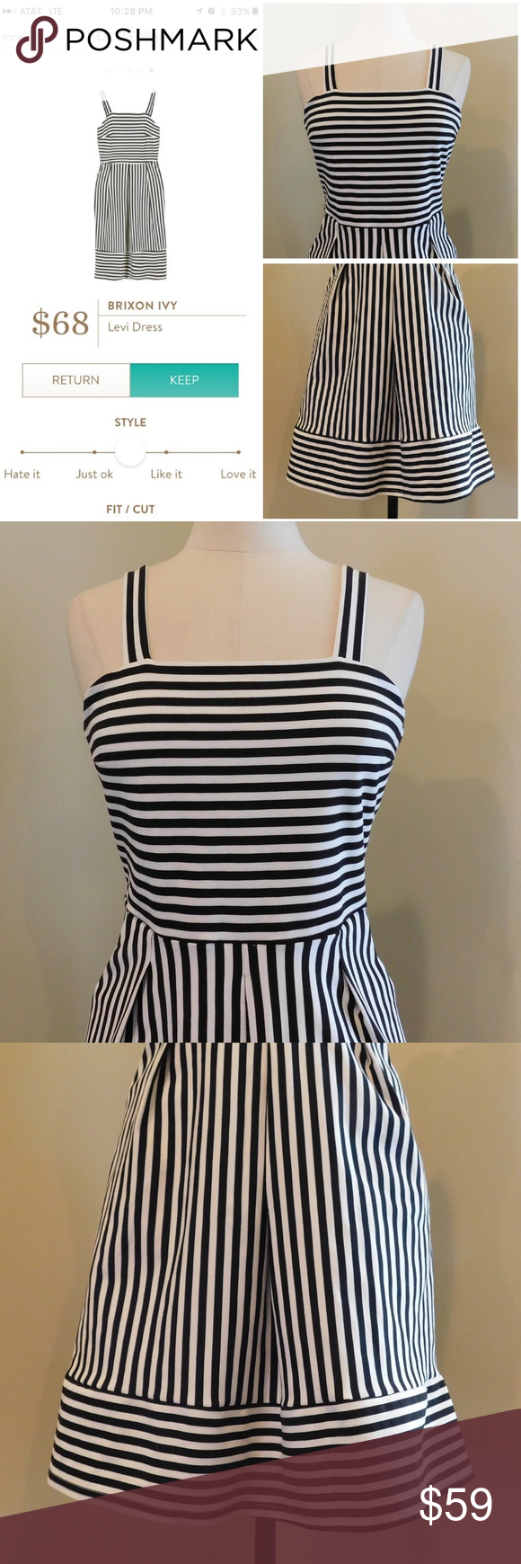 5635a1175dd BRIXON IVY ~ Medium Levi Dress STITCH FIX Stripe  NO Trades Please   EXCELLENT condition