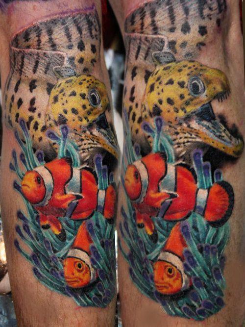 Sea Anemone Tattoo : anemone, tattoo, Underwater, Tattoos, Inked, Magazine, Tattoo,, Anemone