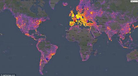 Τα πιο «καυτά» μέρη του πλανήτη: Διαδραστικός χάρτης δείχνει τα πιο φωτογραφημένα μέρη [ΕΙΚΟΝΕΣ]