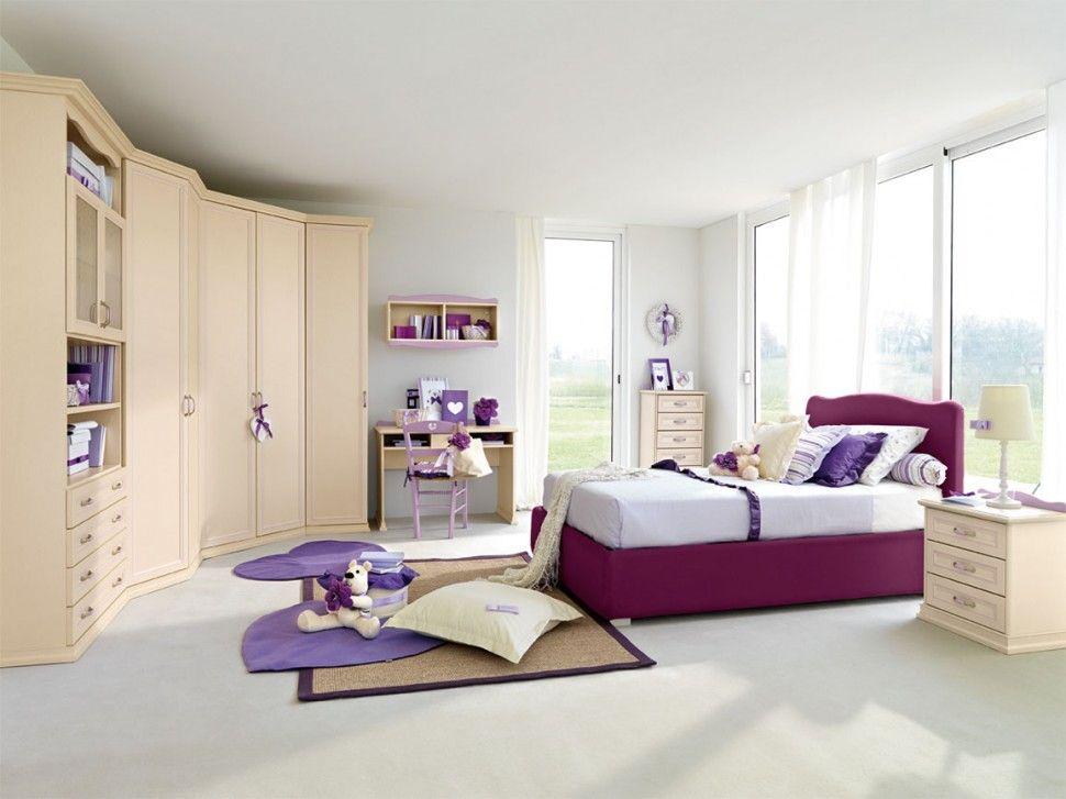 Camerette Lusso ~ Camerette arcadia armadio per bambini finitura magnolia e