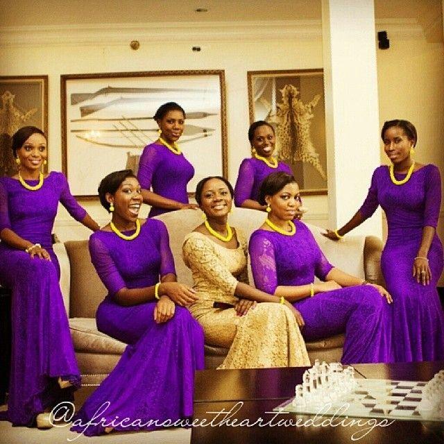 Nigerian Wedding Bridesmaids: African Sweetheart: African Sweetheart Weddings On