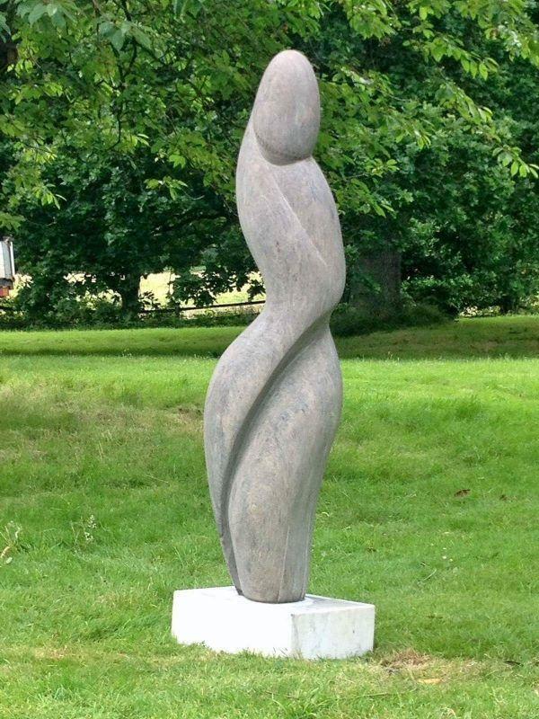 By Emmanuel Changunda Titled: U0027Mystic Woman (abstract Stone Garden Sculpture )u0027.