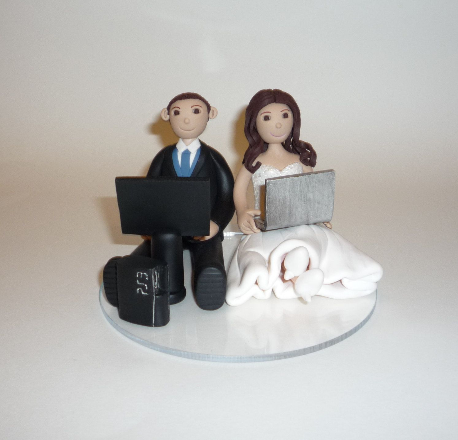 Wedding cake ornaments - Video Game Wedding Cake Topper Sample
