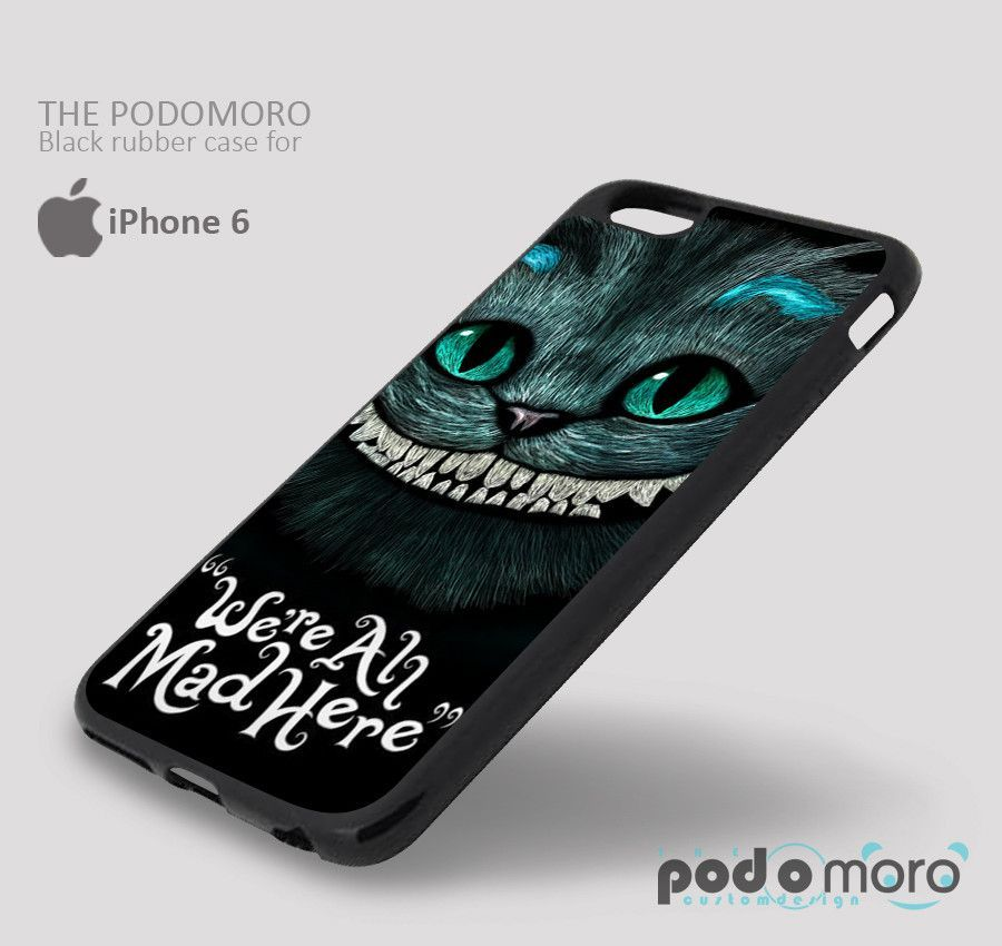 Wonderland Cat We're Ah for iPhone 4/4S, iPhone 5/5S, iPhone 5c, iPhone 6, iPhone 6 Plus, iPod 4, iPod 5, Samsung Galaxy S3, Galaxy S4, Galaxy S5, Galaxy S6, Samsung Galaxy Note 3, Galaxy Note 4, Phone Case