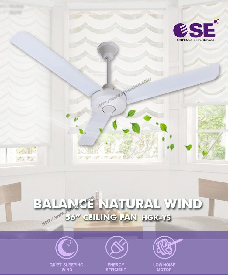 Factory Electronics Aluminum Blade Air Cool Ceiling Fan Large