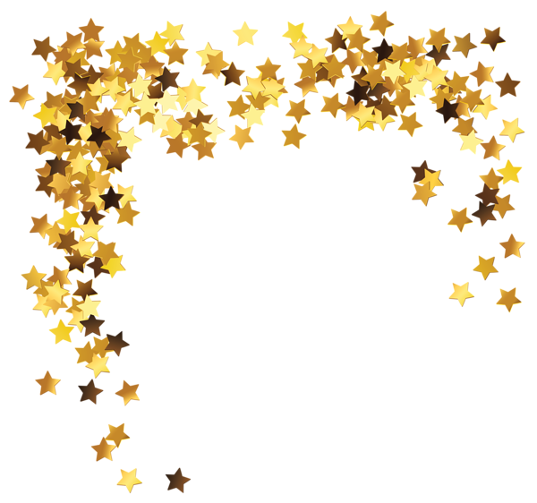 Gold stars decoration png clipart picture png mix for Decoration png