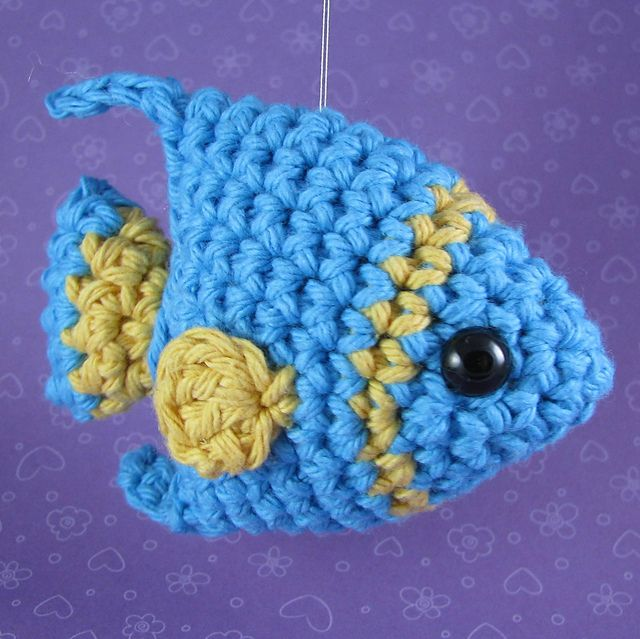 Crochet Fish Amigurumi: Clownfish | Crochet amigurumi free ... | 639x640