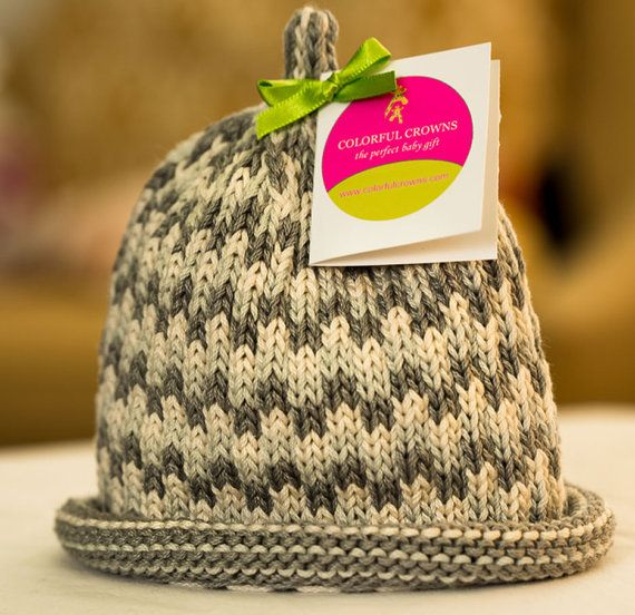 The best baby gift is a Colorful Crown! Hand-knit baby hats for ...