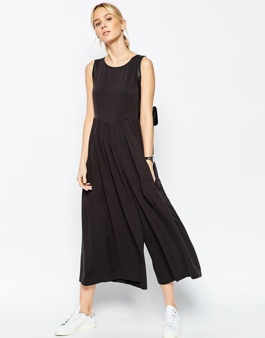ASOS   ASOS Jumpsuit with Gathered Waist and Wide Leg at ASOS