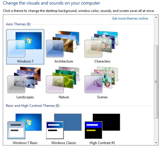 Change Windows Theme In Windows 7 Windows Themes Windows Job Images