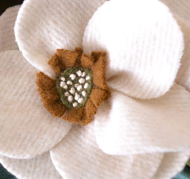 Tea Rose Home: Wool Flower Bouquet Bag