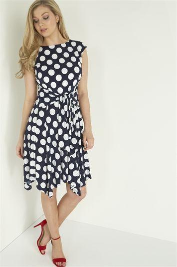 8a0f74ff77 Spot Fit and Flare Print Dress | fashion i like or have | Dresses ...