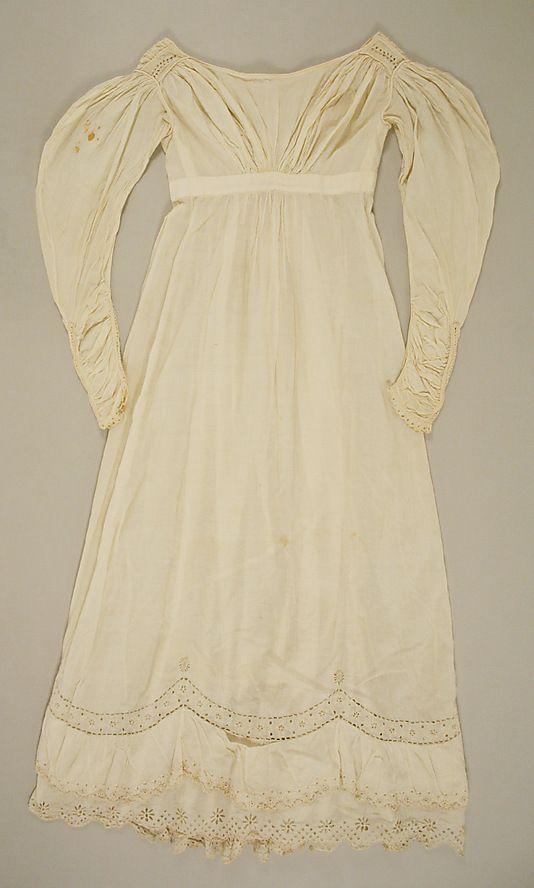 Walking Dress 1820 1825 Cotton American Met Walking Dress